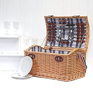 4persona Stretford cesta de Picnic obstaculizar con correa para el hombro–Ideas de regalo para Boss día, regalos de Navidad, regalos de cumpleaños, boda, aniversario