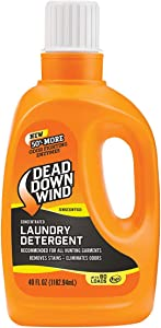 Dead Down Wind Laundry Detergent | 40oz Bottle | Unscented | Gentle Odor Eliminator + Stain Remover for Hunting Accessories, Gear and Clothes, Safe for Sensitive Skin
