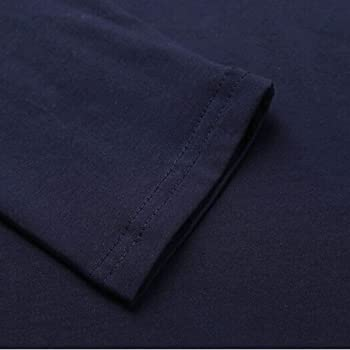 Camiseta De Manga Larga para Hombre Camiseta Básica para Urbana Hombres Camisa Mode De Marca De Cuello Alto Azul con Botones Estampados (Color : Blanco, Size : M): Amazon.es: Ropa y accesorios