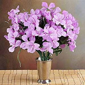 144 Wholesale Artificial Silk Amaryllis Flowers Wedding Vase Centerpiece Decor - Lavender 6