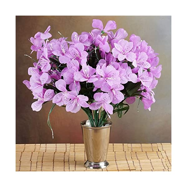 144-Wholesale-Artificial-Silk-Amaryllis-Flowers-Wedding-Vase-Centerpiece-Decor-Lavender