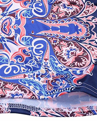 Floreale Delle Retrò Del Blu Bodycon Partito Biubiu Vestito Donne Del 3xl S Maxi Elegante Dalla Spalla Hxcrqtwxa6