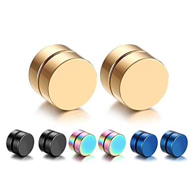 4cf5cbcf5 Amazon.com: Oidea 8PCS 8MM Stainless Steel Magnetic Fake Gauges Non ...