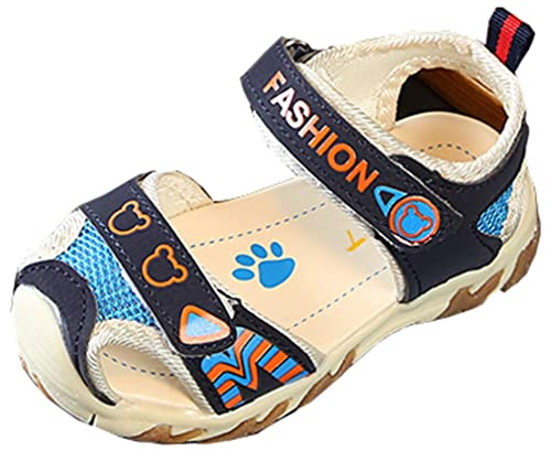 fbcb373c36922f VECJUNIA Boy s Girl s Athletic Sandals Low Top Closed Toe Anti-Slip Outdoor  Sports Sandals (