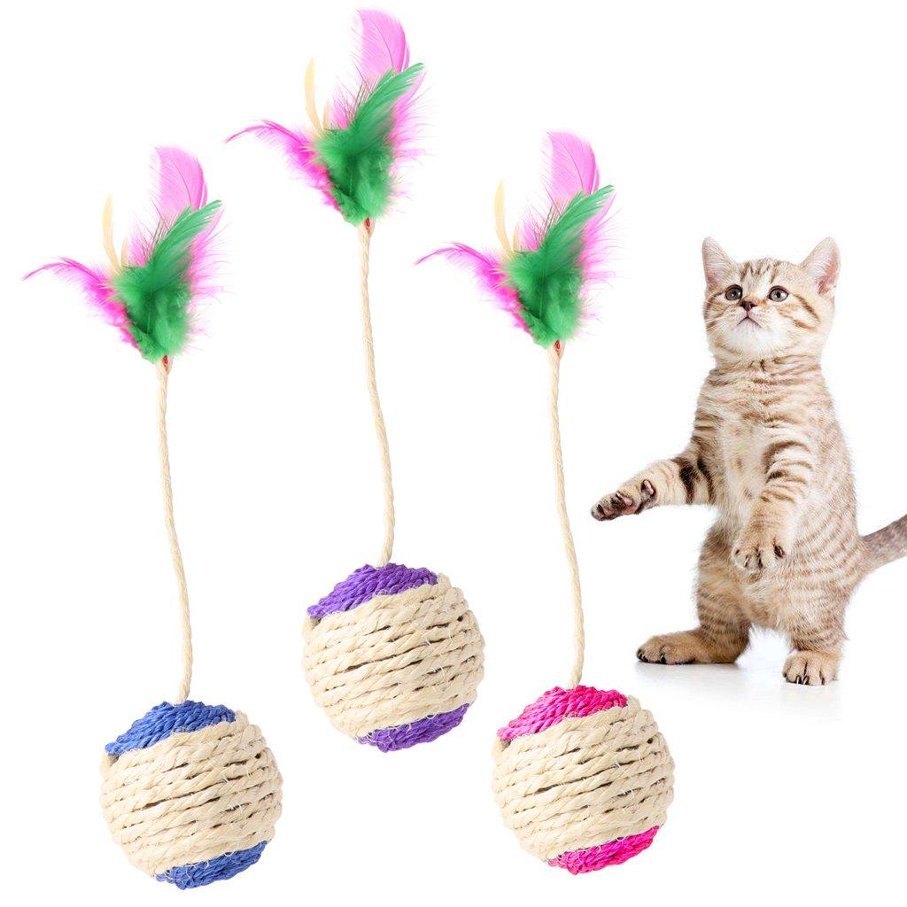 EcLife - Vaso Interactivo para Gato o Gato con Plumas para ...