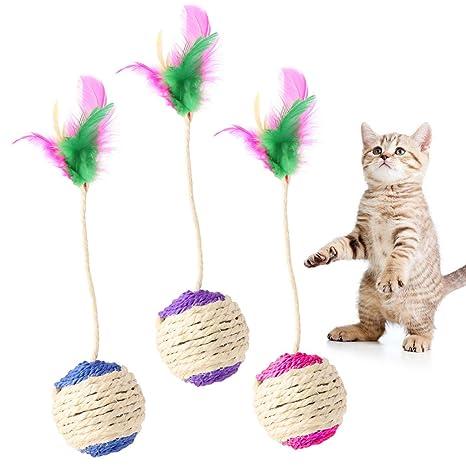 EcLife - Vaso Interactivo para Gato o Gato con Plumas para Gato o Gatito