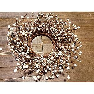 "Pip Berry Combo Wreath 13"" White/Ivory 80"