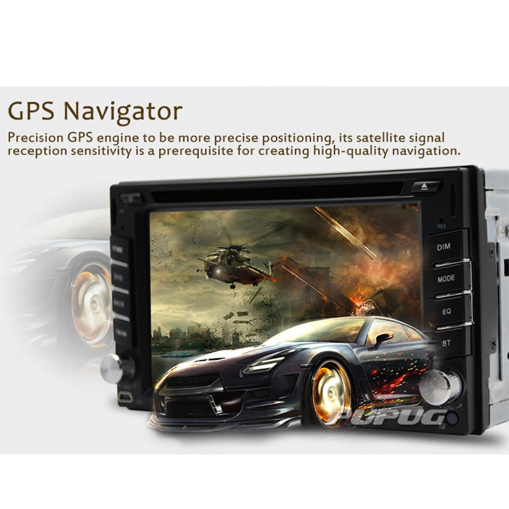 Amazon.com: GPS Navigation Steering Wheel Control 2 Din Car DVD CD Player Stereo Radio Video Bluetooth 6.2 Inch Touch Screen AM FM RADIO USB In dash ...