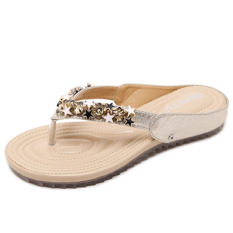 ANONE Summer Stars Soft Mid Heel Open Toe Sandal Slippers