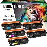 Cool Toner 5 Pack Black Cyan Yellow Magenta Compatible Brother TN315BK TN315C TN315Y TN15M Toner Cartridge For Brother HL-4570CDW HL-4150CDN MFC-9560CDW MFC-9460CDW Printer