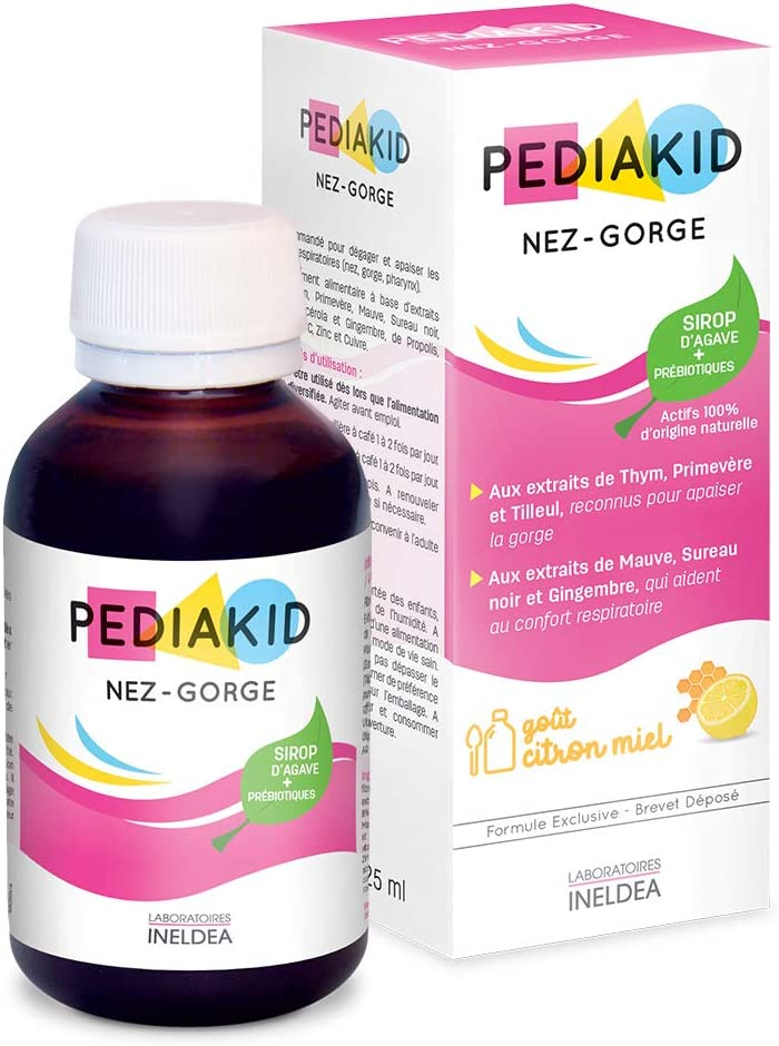 Pediakid All Natural Liquid Children Vitamins & Mineral Supplement to Help with Colds & Allergies