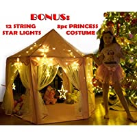 Kids Tent for Kids Playhouse with Lights - 12 Star LED...