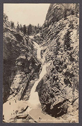 Seven Falls So Cheyenne Canon Colorado Springs CO RPPC postcard -