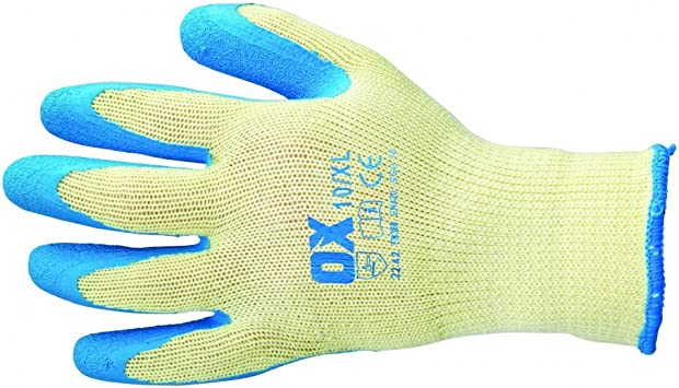OX Waterproof Thermal Latex Glove Size 9 Large