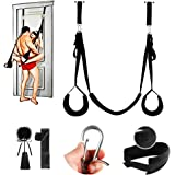 BDSM Door Sex Swing for Couples with Satin Blindfold Play Set, Sexy Slave Bondage Restraints Adult SM Sex Toys for Women Men