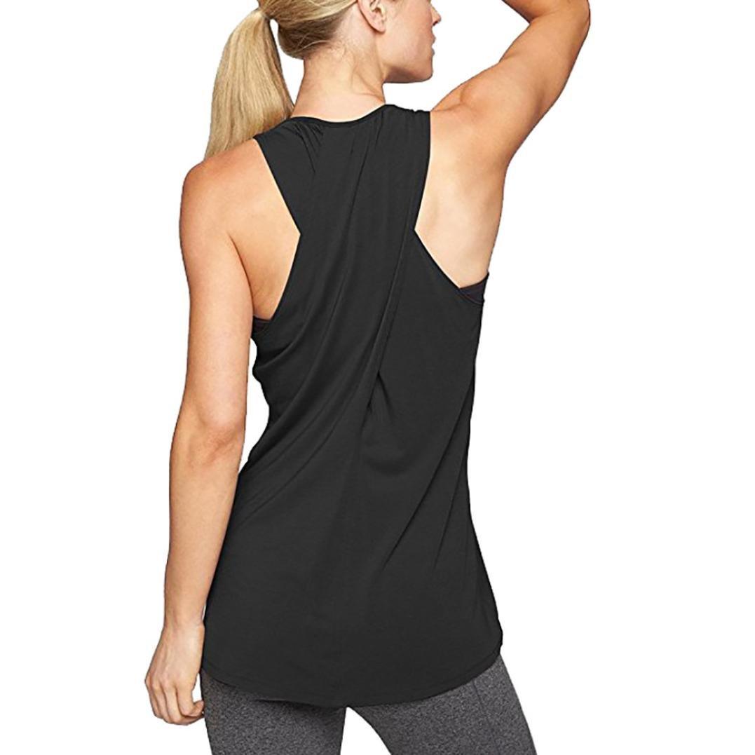 Sannysis Fitness Yoga Vests Sujetador Deportivo básicos Tallas ...