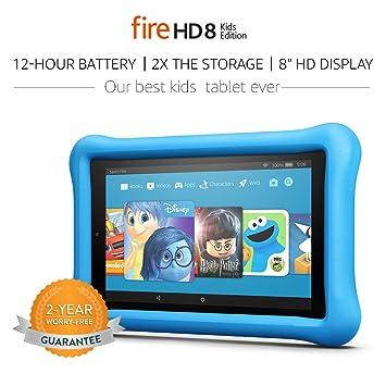 """Fire HD 8 Kids Edition Tablet, 8"""" HD Display, 32 GB, Blue"""