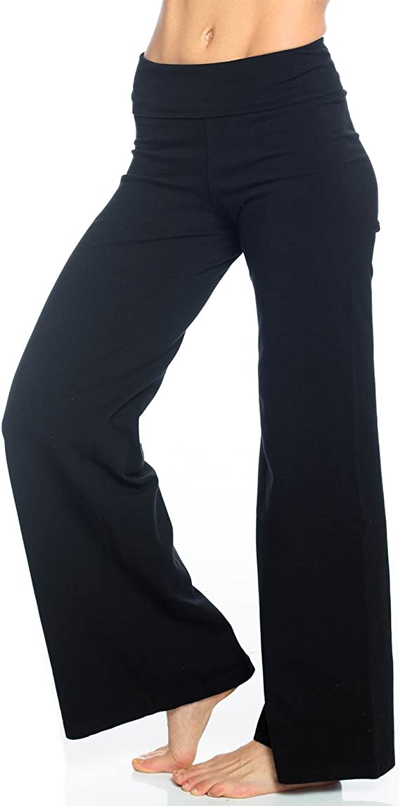 Hard Tail Rolldown Wide Leg Pant Womens Active Workout Yoga Leggings