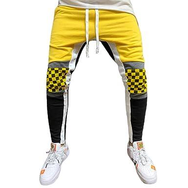 Amlaiworld Pantalones de Gimnasio para Hombre Pantalones chandals Hombres Jogging Pantalones Deportivos chándal Pantalon Largo de Fútbol para Niños: ...