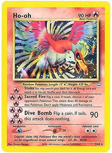 Amazon Com Pokemon Ho Oh Jul 64 Neo Revelation Holo Toys Games