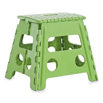Sgabello Plastica Pieghevole.Zeller 99166 Color Sgabello Pieghevole In Plastica 37 X 30 X 32 Cm Colore Verde