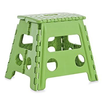 Zeller tabouret pliant en plastique vert x x cm with for Salon enzo amiens