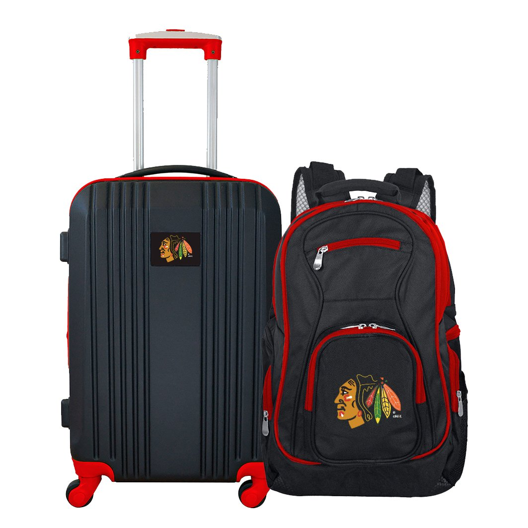 NHL Chicago Blackhawks 2-Piece Luggage Set by Denco (Image #1)