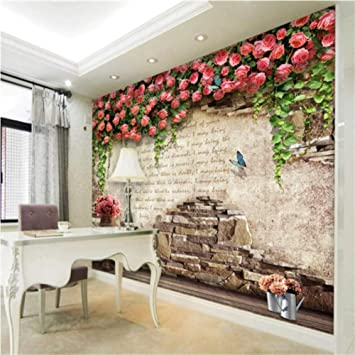 Amazon Com Pbldb Custom Wall Mural Wallpaper 3d Pink Rose Floral Wallpapers For Living Room Girls Bedroom Walls Home Improvement 450x300cm Furniture Decor