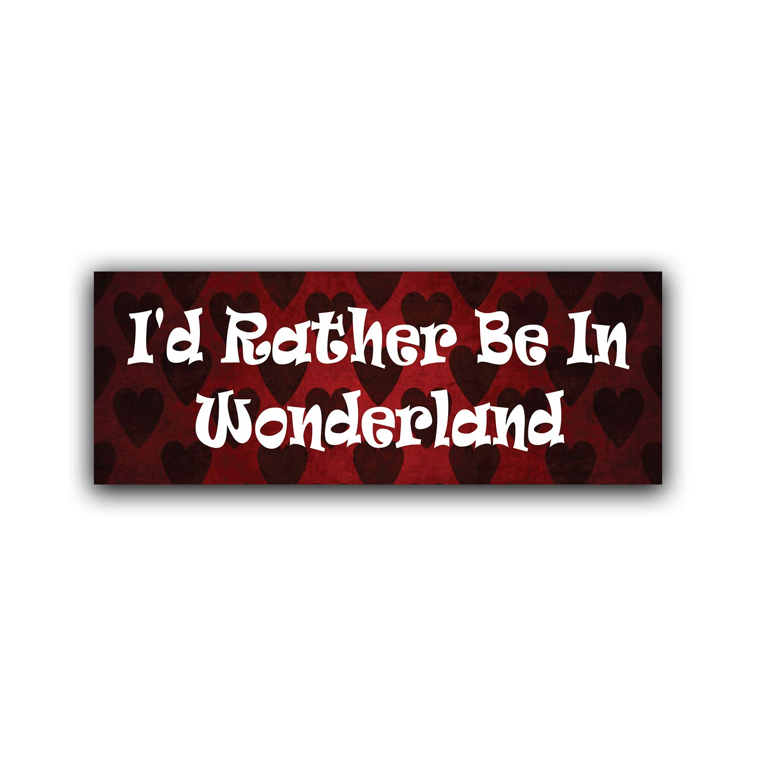 One 8.25 Inch Decal MKS0787 Car Truck Van SUV Window Wall Cup Laptop More Shiz Id Rather Be in Wonderland Vinyl Decal Sticker