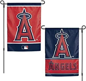 WinCraft MLB Los Angeles Angels 12x18 Garden Style 2 Sided Flag, One Size, Team Color
