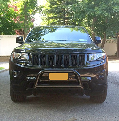 Amazon.com: Custom Fit 2011 2017 Jeep Grand Cherokee Black Grille Bumper  Guard Bull Bar (Excl. SRT, Trail Hawk, And Models W/ Active Cruise  Control): ...