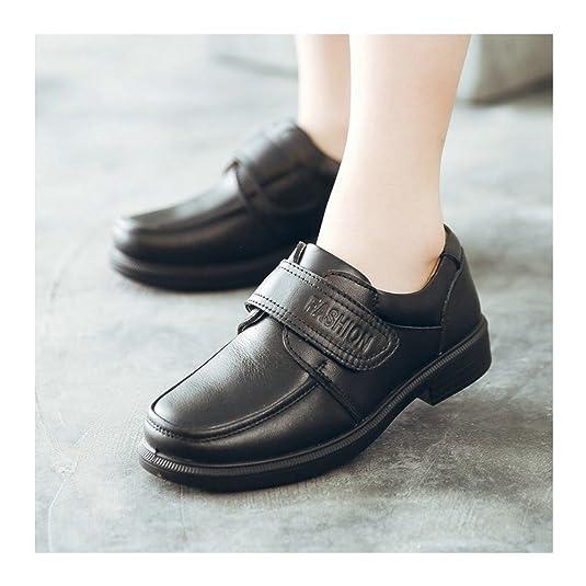 Boys Monk-strap Hook and Loop School Uniform Oxford Dress Shoes (Little Kid/Big  Kid): Amazon.co.uk: Shoes & Bags