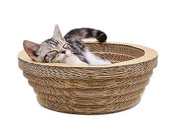 Pet Elf Tabla de rascar de Papel Corrugado para Gatos, Grande, Redonda, para