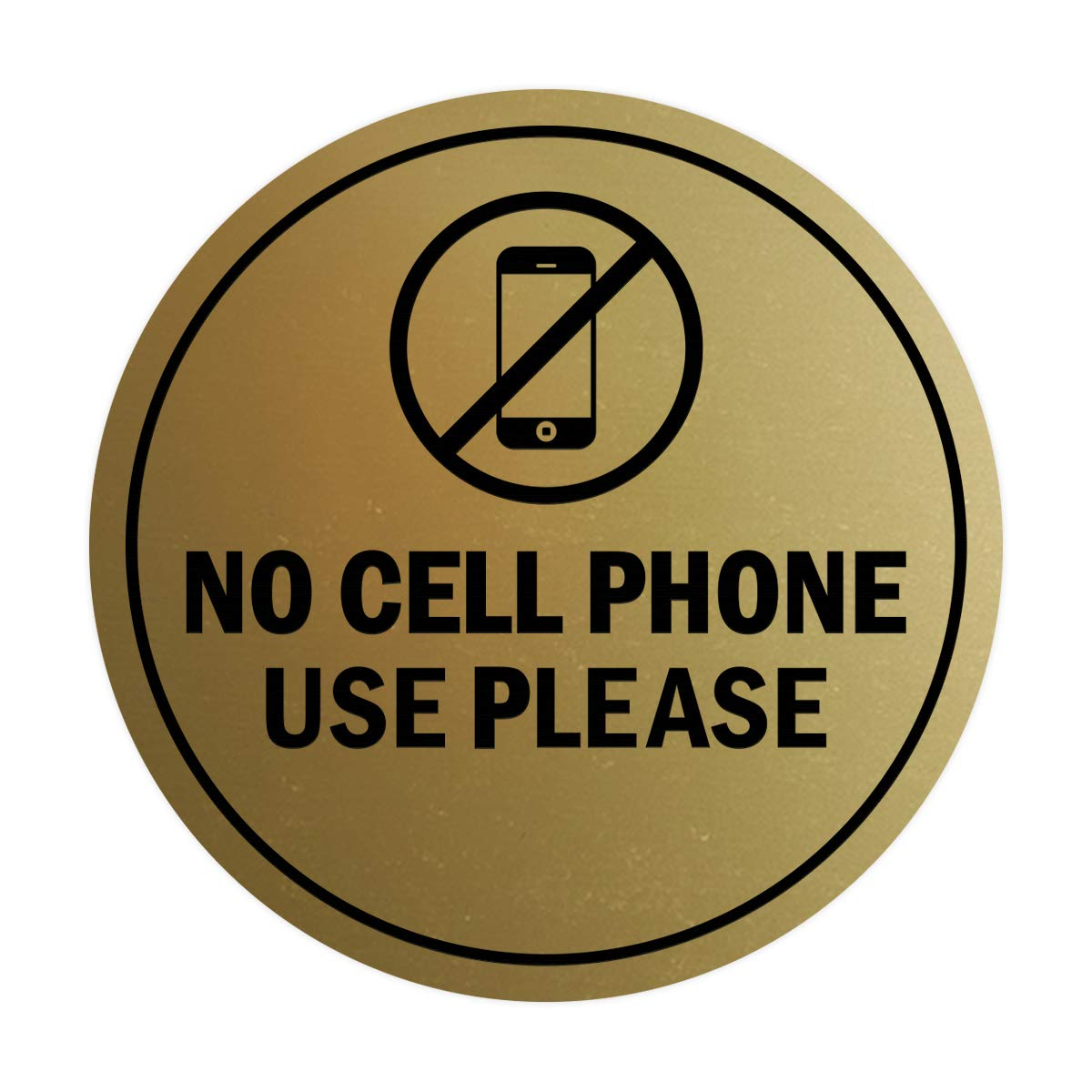 Navy Blue//White Signs ByLITA Circle No Cell Phone Use Please Sign Large
