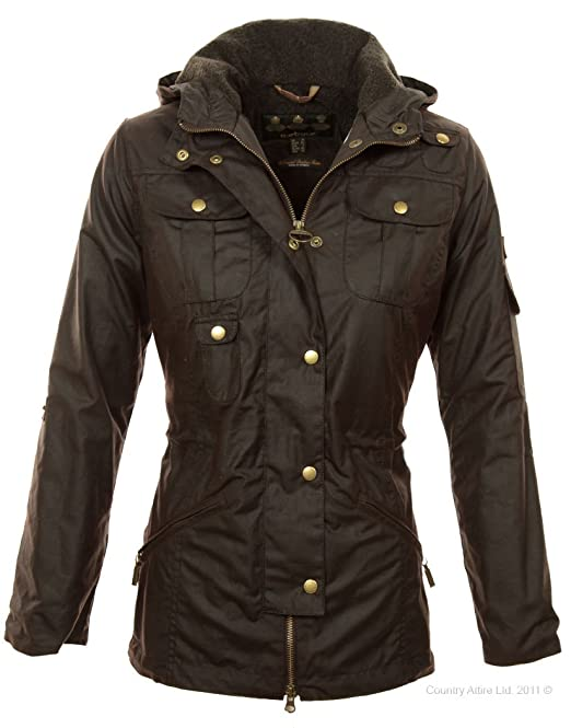 Barbour Chaqueta de Invierno Parka Force - Rústico ...