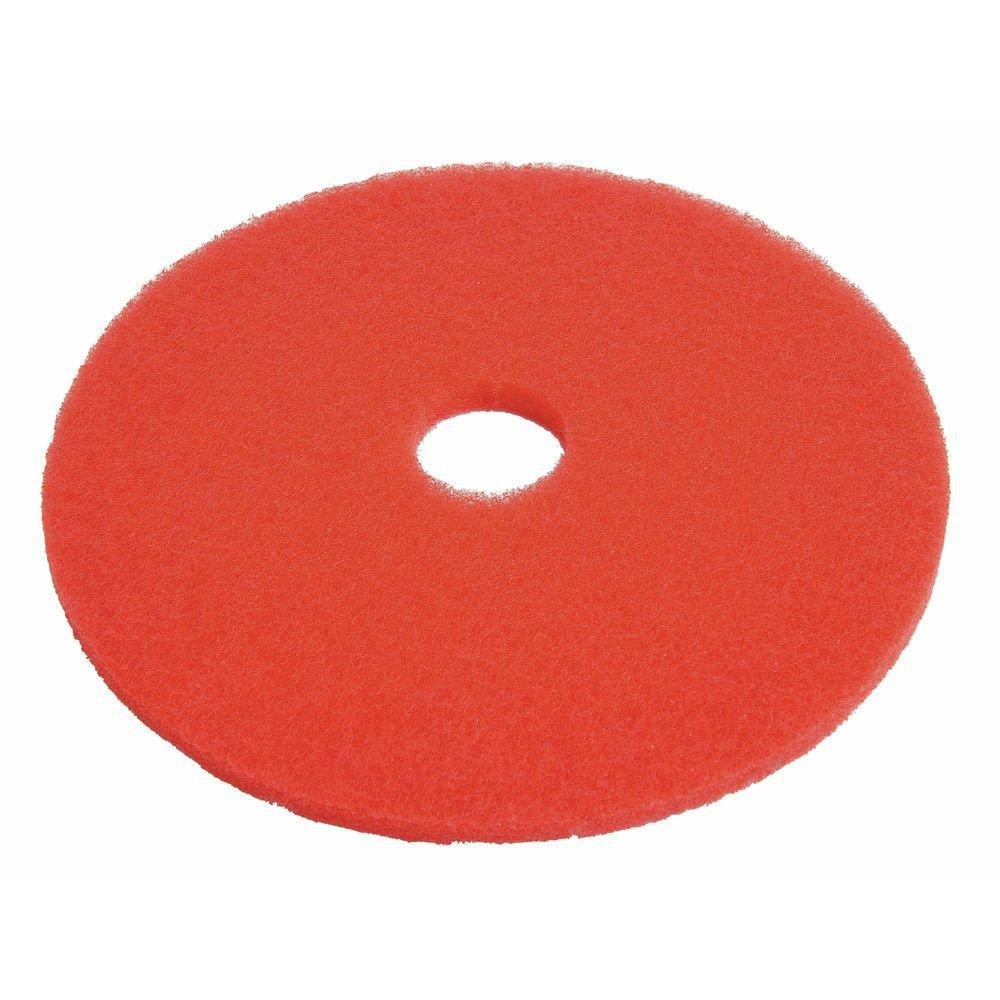 HUBERT Floor Buffing Pad Red Round - 20'' Dia 5 Per Case