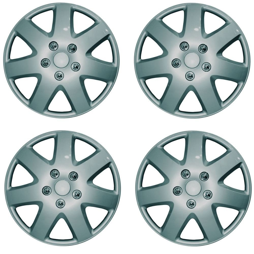 VAUXHALL CORSA 13' Tempest Car Wheel Trims Hub Caps Plastic Covers Silver Wing Mirrors World