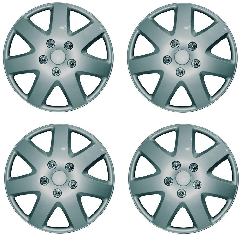 RENAULT CLIO 15 Tempest Car Wheel Trims Hub Caps Plastic Covers Silver