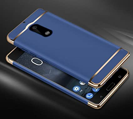 promo code 329e0 2b274 XORB 3-in-1 Electroplating Hybrid Hard Back Case Cover for Nokia 6 (Blue)