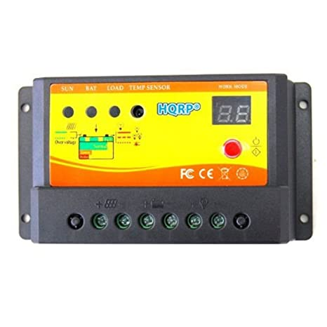 Amazon com : HQRP Solar Power Controller 10Amp 150W with