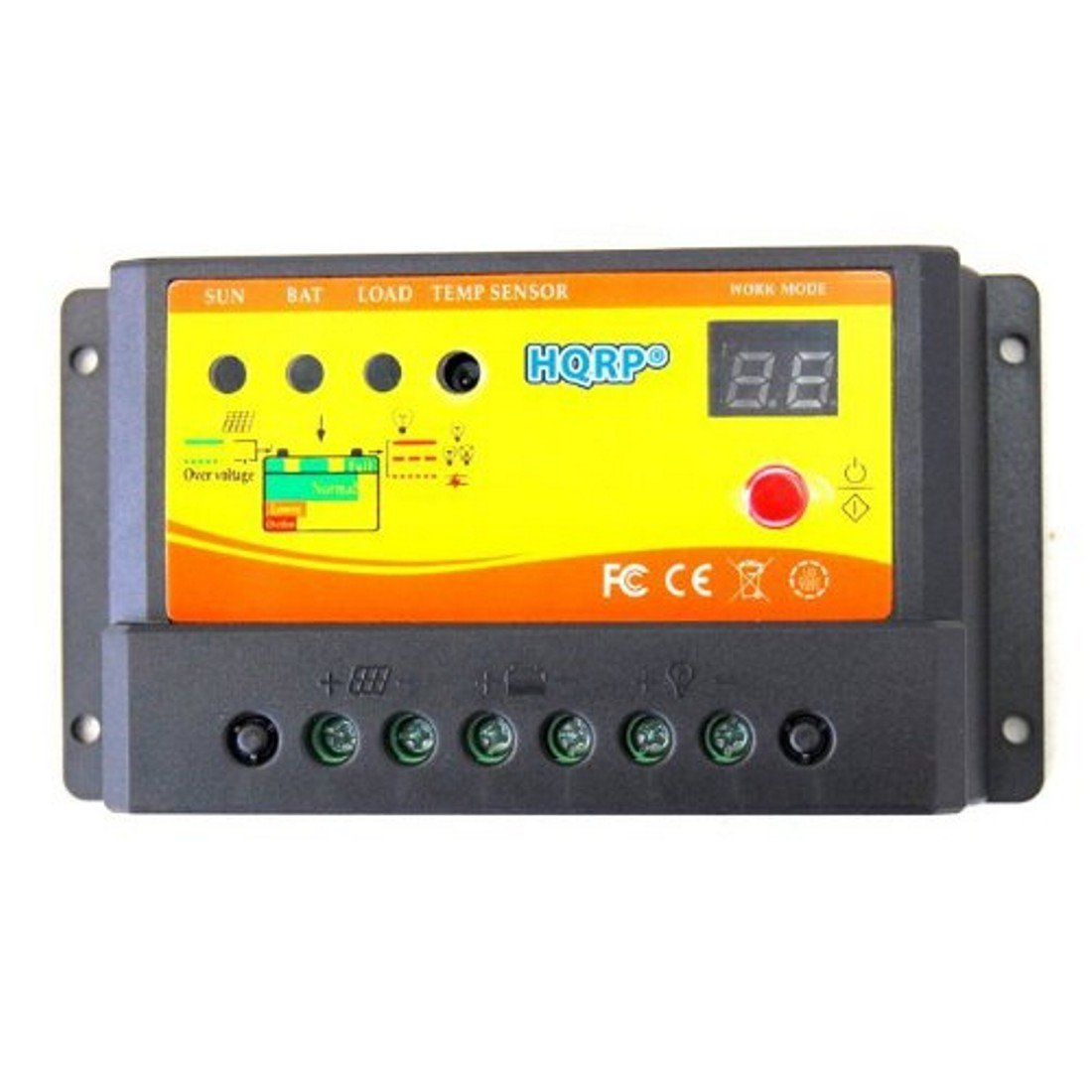 HQRP Solar Power Controller 10Amp 150W with Digital LED Display plus HQRP UV Meter