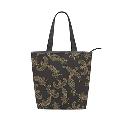9baacdc9fc Amazon.com  Canvas Top Handle Tote Bag Exotic Flying Birds Shoulder Bag  Handbag for Women  Shoes