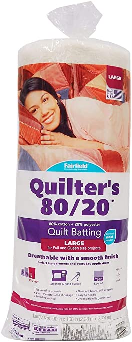 Fairfield Quilters 80//20 BATTING Natural