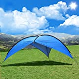 Beach Tent,Beach Canopy,Sun Shelter POP UP Tent 3-8 People Large Canopy Tent Pergola UV Protection Camping Fishing Festival Tents Awning by OXKING® Review