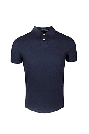 828a623dd Polo Ralph Lauren Men's Classic Fit Mesh Polo Shirt (Navy Heather)