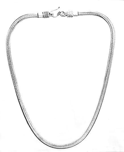 l'ultimo 0d8b5 99351 Collana con catena a maglia coda di topo in argento Sterling ...