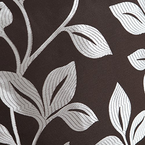 CaliTime Pack of 2 Soft Throw Pillow Covers Cases for Couch Sofa Home Decor, Cute Growing Leaves, 18 X 18 Inches, Coffee