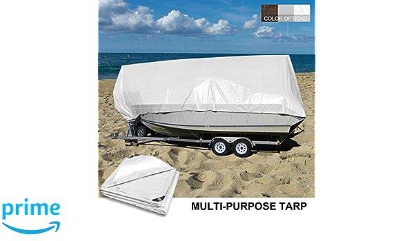 Coarbor 16 x 20 Waterproof Tarp Matertial 5 Mil Protect Outdoor Boat RV Pool Cover Blue
