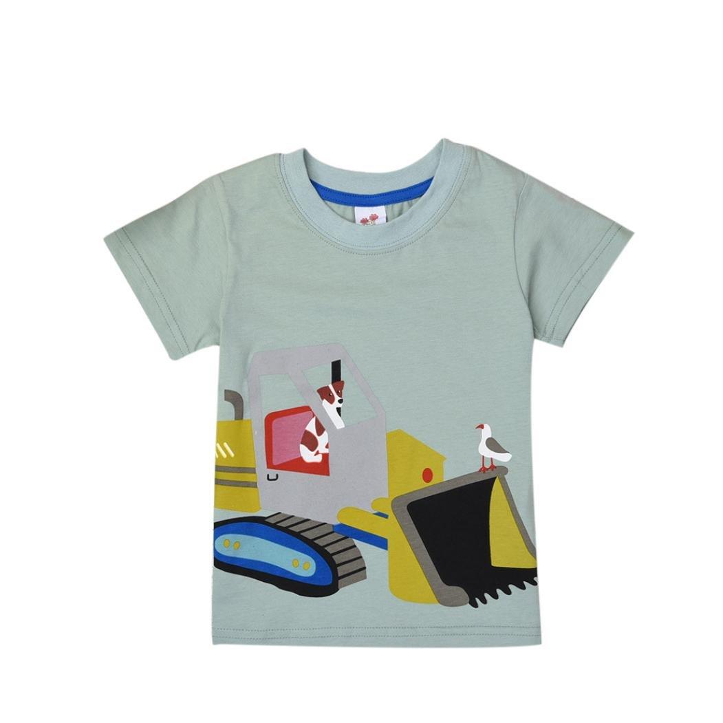 squarex Baby T-Shirt, Kids Boys Girls Clothes Short Sleeve Cartoon Tops Blouse
