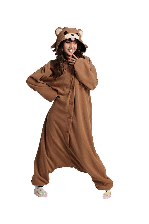 XMiniLife Pedobear Adult Costume Onesie Sleepwear